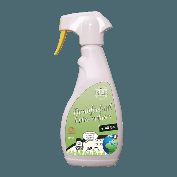 Flacon pulvérisateur désinfectant ménager